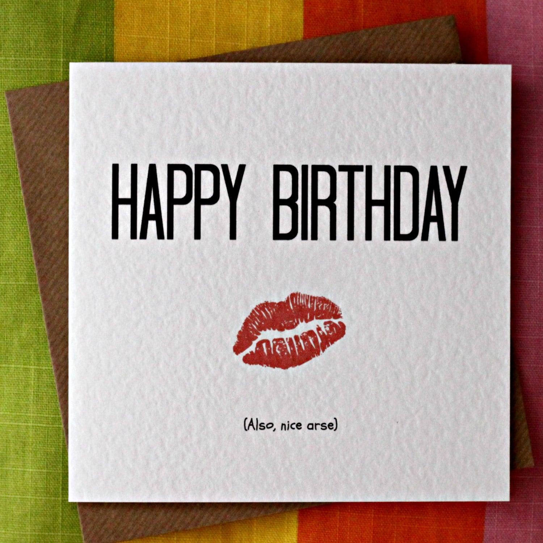 Nice Arse Funny Birthday Card Cheeky y Birthday Card