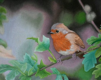 Little Robin Redbreast - Art Print