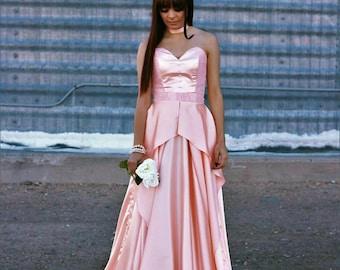 Ara Rose Gold Prom Dress