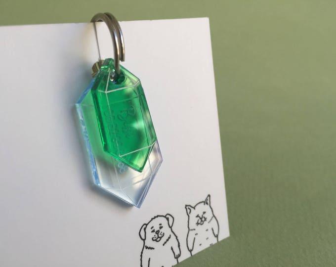 Médaillon pour chat - Cristal vert
