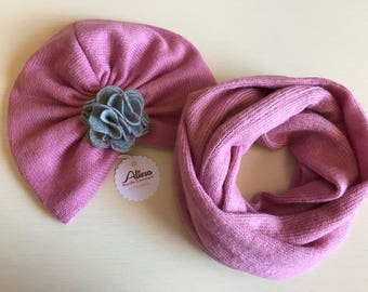 Turban hat for baby girl/girl/woman with scarf