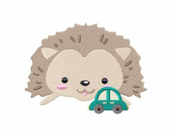 Toy hedgehog machine embroidery design