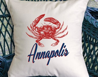 Customized Red Crab pillow (INCLUDES PILLOW INSERT)
