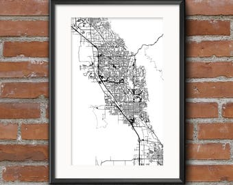 Provo Map Art Print – Light // Provo Poster | Provo Art | Provo Print // Free Shipping