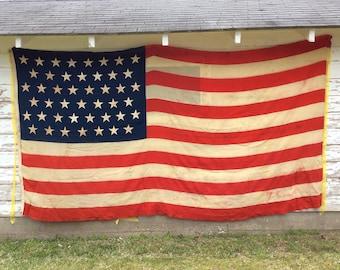45 Star American Flag~Antique American Flag~Vintage American Flag