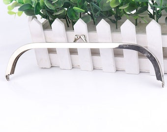 22*5cm Metal frame pouch, Kiss lock frame silver plated bag frame Purse Frame Bag Frame Handbag Frame