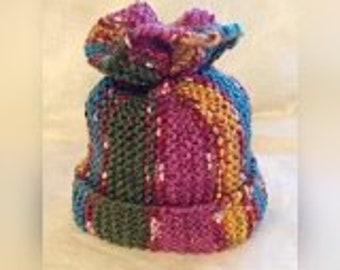 Easy Hat, Knitting Pattern for Beginner