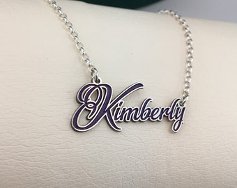 Kimberly necklace, custom word necklace, name necklace, name pendant, special gift, sterling silver 925
