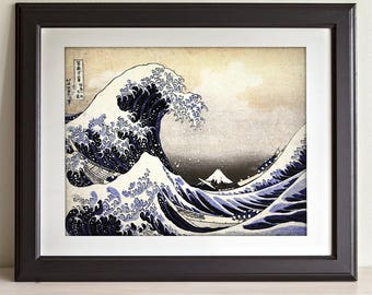 The Great Wave Off Kanagawa - 11x14 Unframed Art Print - Great Gift for Art Lovers