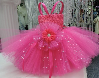 Sequin/Sparkle Baby Tutu Dress - Custom made in any color!!