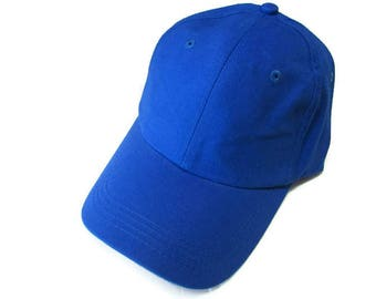 Royal Blue Ball Cap Hat Cotton Twill Monogrammed Custom Embroidery for men or women