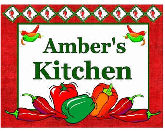 Personalized Chili Peppers Kitchen MAGNET ~ FREE SHIPPING