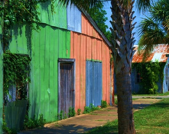 Travel Photography- Apalachicola Patchwork- Florida, Southern, Beach, Colorful, Vibrant, Coastal, Nature, Landscape, Fine Art Photography