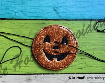 4x4 Pumpkin WHIRLIGIG TOY Machine Embroidery Applique In-The-Hoop Design yo-yo Spinning buzzsaw Spinner buzzer Halloween