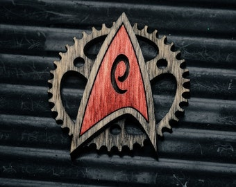 Coloured Steampunk Starfleet Badge - star trek inspired