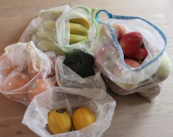 Re-usable Produce Bags - Bundle - Polka dot