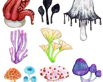Creepy Cute Mushrooms Sticker Pack   Last Updated 12/17   Magical Stickers Hand Made with Love