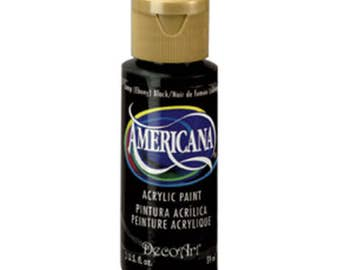 DecoArt® Americana Acrylic Paint - Ebony Black - 2 oz