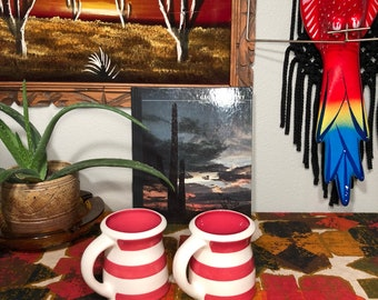 Vintage Striped Terramoto Mugs