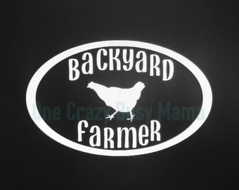 Backyard Farmer-Vinyl Window Decal