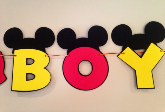 its a boy mickey mouse baby shower banner mickey mouse