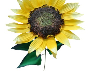 Set of 3 - 3 Foot Tall Sunflower Stems - Large