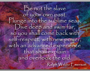 GRADUATION CARD - Inspirational Quote by Ralph Waldo Emerson - Also available as a Print with a Free Mat - Great Gift   (CGRAD2013071)