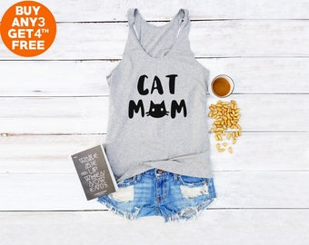 Cat Mom Shirt Cat Tank Mom Gifts Saying Tumblr Slogan Shirt Women Gifts  Teen Funny Cat