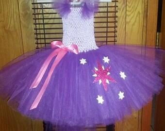 My little pony Twilight Sparkle tutu dress, MLP tutu dress, MLP Halloween costume, Twilight Pony dress, Halloween costume