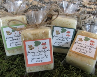 Woodland Baby Shower Favors Soap Woodland Critters Baby Shower Soap Favors Organic Soap Baby Shower Favor Soap Baby Soap Favors Soap Favor