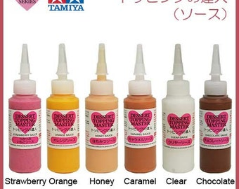One 20ml Bottle of Tamiya Decoration Series Deco Sauce. Fake sauce for miniature food. Choose from the colours available