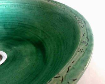 Washbasin turquoise/ikebana Ø 43 height 11 cm