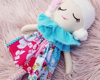 Handmade Cloth Doll, Rag Doll, Keepsake Doll, Heirloom Doll, Fabric Doll, Soft Toy, Kids Toy