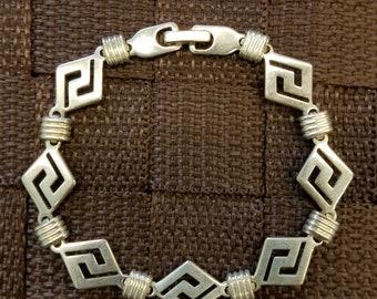 925 Aztec Design Bracelet