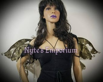 RESERVED ********  MAZIKEEN Nyx Wings™ are One of a Kind Fairy Wings,antique wings,wings,ren fest fairy wings,festival wings