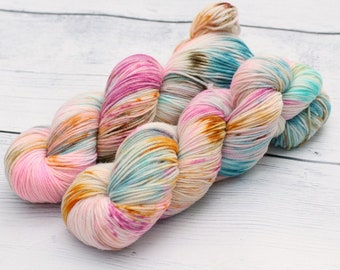 Sorry, But You Ate My Cat {Theurgic} -  90/10  Superwash Targhee - Nylon - 465 Yards - 115 Grams - Speckled Sock Yarn - 100% Product of USA