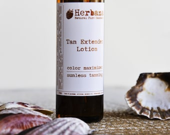 Natural Self Tanning Lotion, Tan Extender, Organic Tan Extender, Color Maximizer, Body Lotion, Natural Sunless Tanning by Herbana Cosmetics