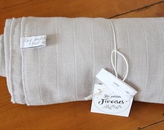 Gray Swaddle Maxi / / organic cotton