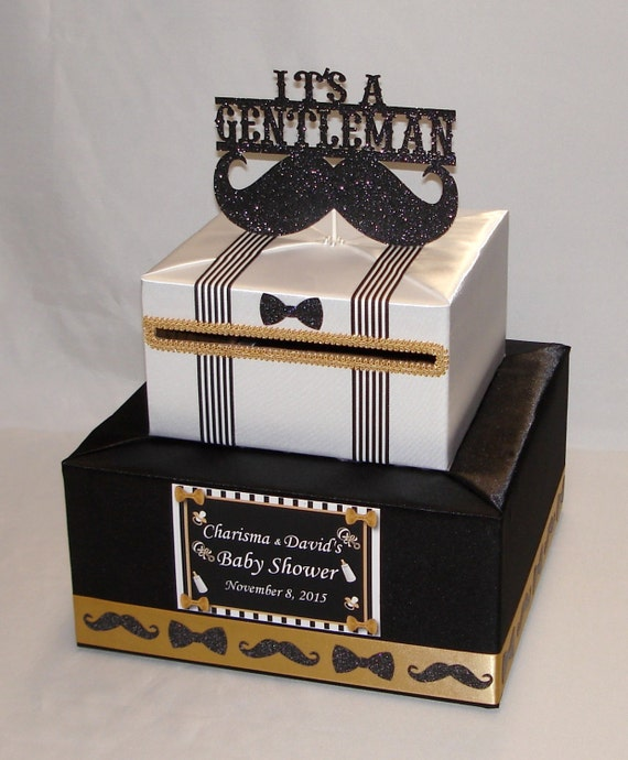 Little gentlemanmustache theme baby showerbirthday card like this item bookmarktalkfo