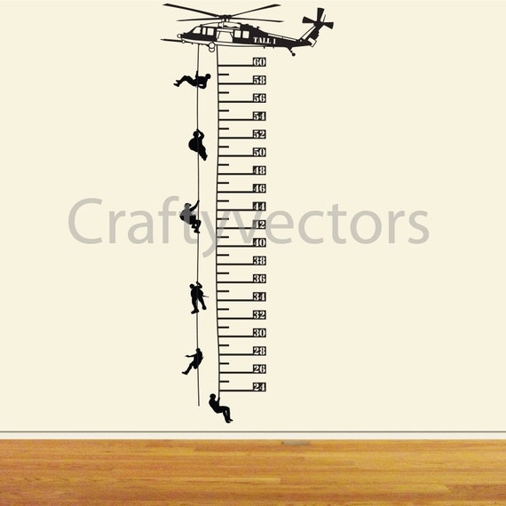 Helicopter Growth Chart Vector Template Svg From Craftyvectors On
