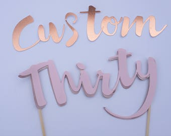CUSTOM Written Number Cake Topper