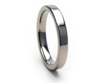 New 3mm Wide Comfort Fit Titanium Ring