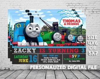 Thomas The Train, Thomas The Train Invitation, Thomas Train Birthday, Thomas Train Party, Thomas The Train Party Invitation, UNR102