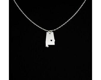 Alabama Necklace - Alabama Jewelry - Alabama Gift