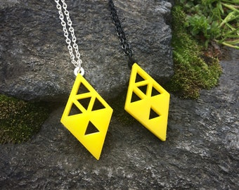 Yellow Triforce Necklace