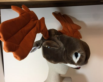 Whimsical moose hat