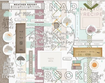 Silver Linings - Digital Scrapbooking Kit