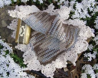 Shades of Pemberley Spa Cloth Jane Austen Pride and Prejudice Crochet Lace Wash Cloth Dish Cloth Crochet Pattern Holiday Gift Housewarming