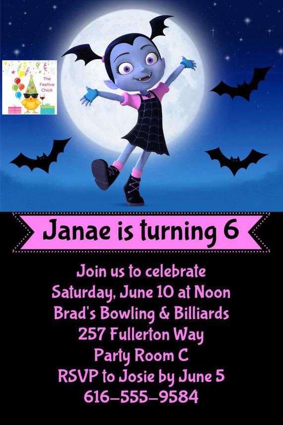 Vampirina invitaciones Disney Junior Vampirina
