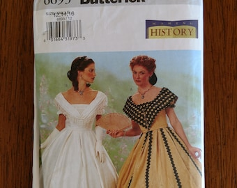 Butterick #6693, Misses Historical Costume Pattern - Size ,  12,14,16 - 2 Variations